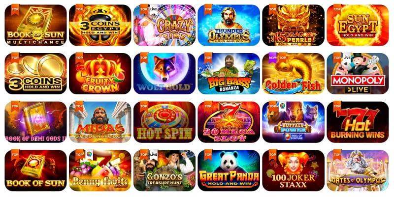 All Right Casino Glücksspiele