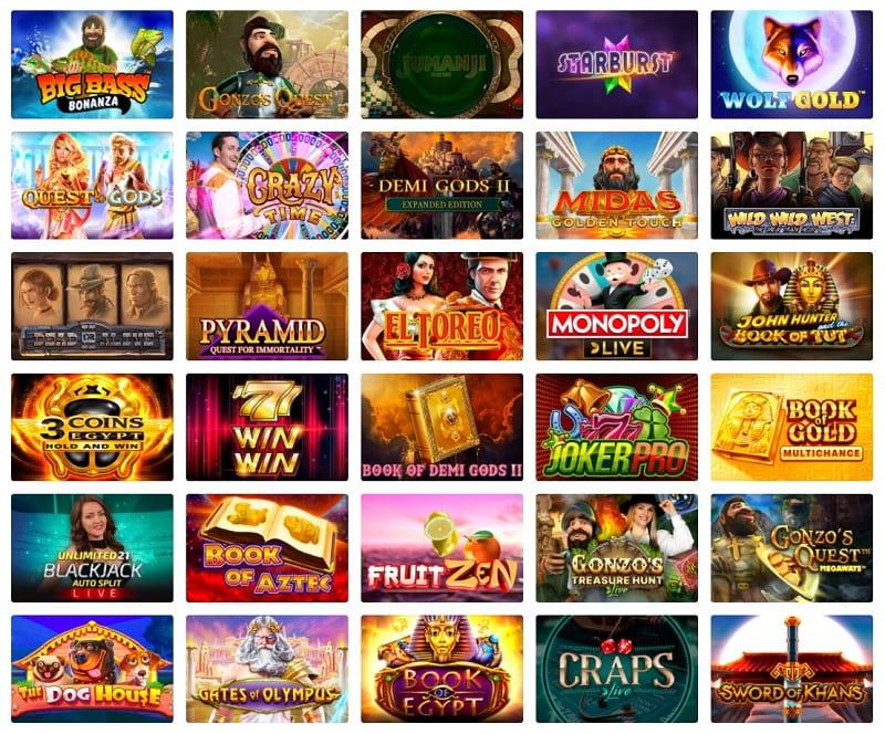 SuperCat Casino Spiele